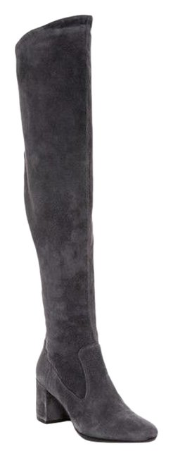 Item - Gray New Blythe Suede Over The Knee Boots/Booties Size US 6 Regular (M, B)