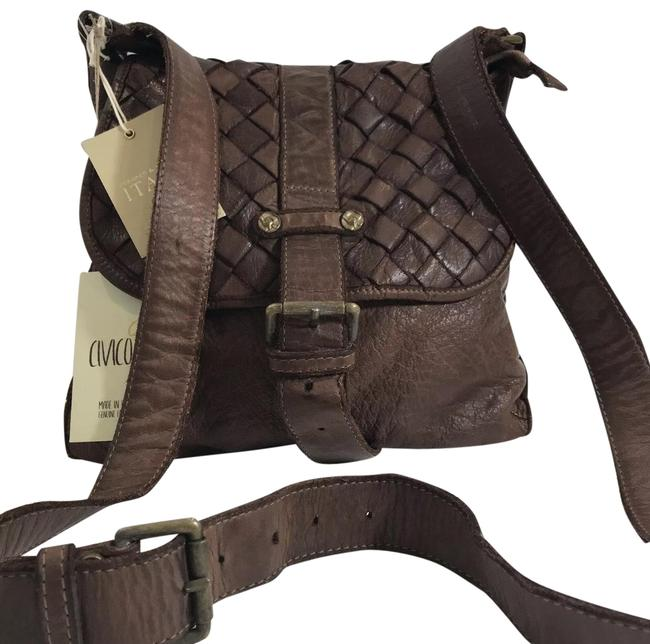 New In Italy Tan Leather Cross Body Bag New In Italy Tan Leather Cross Body Bag Image 1