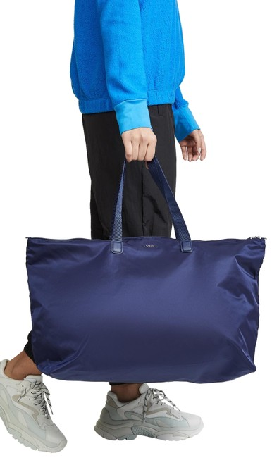 Item - New 2pcs Foldable Lightweight Duffel Tote + Pouch Blue Nylon Weekend/Travel Bag