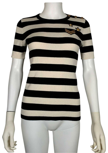 Preload https://img-static.tradesy.com/item/25522908/lauren-ralph-lauren-multicolor-by-knit-embellished-stripes-cotton-s-new-nw-blouse-size-4-s-0-1-650-650.jpg