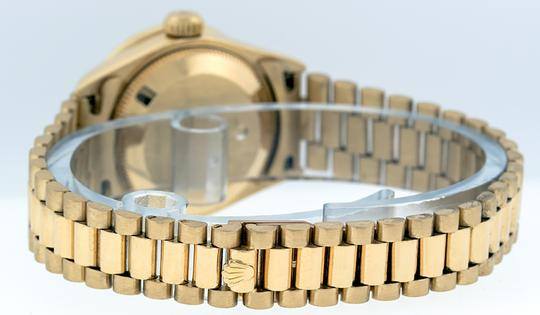 Rolex Ladies Datejust 18k Yellow Gold with MOP String Diamond Dial Image 1