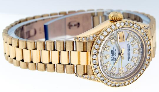 Rolex Ladies Datejust 18k Yellow Gold with MOP String Diamond Dial Image 2
