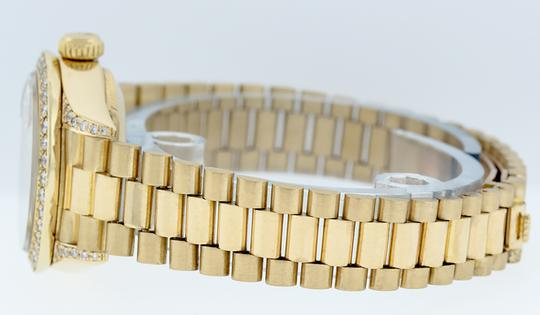 Rolex Ladies Datejust 18k Yellow Gold with MOP String Diamond Dial Image 3