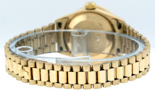Rolex Ladies Datejust 18k Yellow Gold with MOP String Diamond Dial Image 4