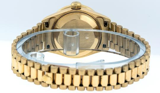 Rolex Ladies Datejust 18k Yellow Gold with MOP String Diamond Dial Image 5