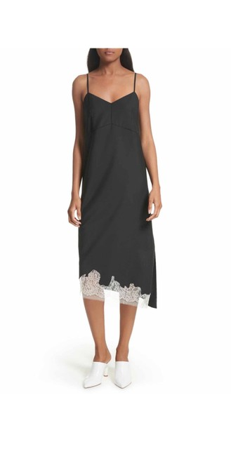 Tibi Black Lou Lou Appliqué Mid-length Night Out Dress Size 12 (L) Tibi Black Lou Lou Appliqué Mid-length Night Out Dress Size 12 (L) Image 1