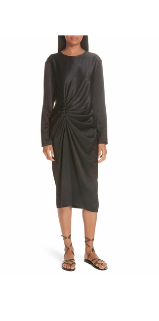 Preload https://img-static.tradesy.com/item/25522944/helmut-lang-black-ruched-crinkle-dating-mid-length-night-out-dress-size-10-m-0-0-650-650.jpg