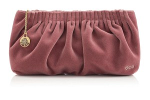 Charlotte Olympia Luscious Velvet Pink Clutch