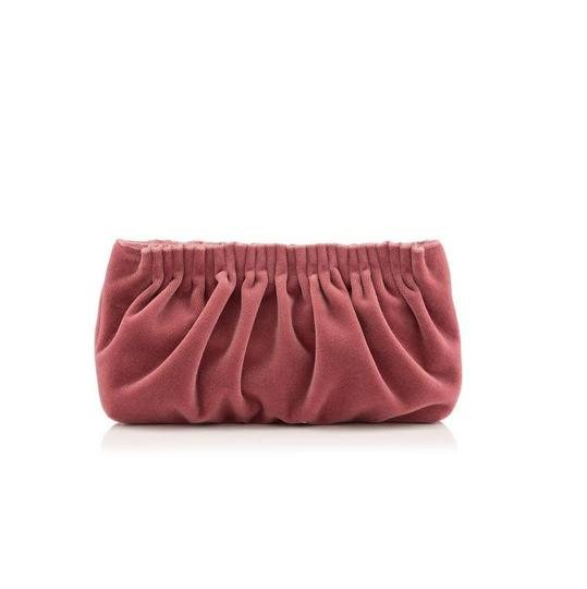 Charlotte Olympia Luscious Velvet Pink Clutch Image 2