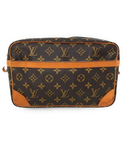 Louis Vuitton Monogram Canvas Clutches Handbags Purses Wristlet in Brown Image 1
