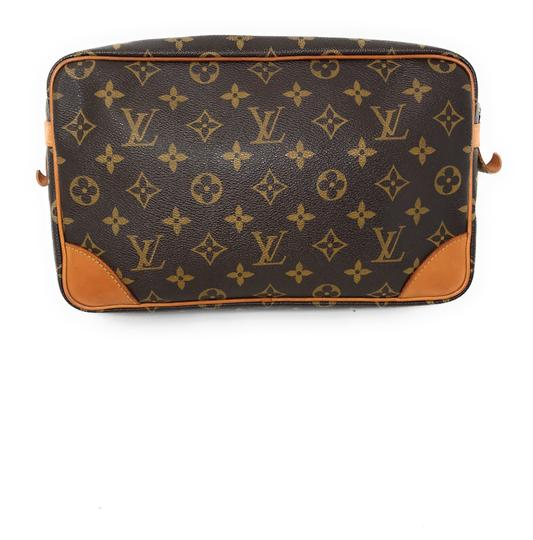Louis Vuitton Monogram Canvas Clutches Handbags Purses Wristlet in Brown Image 2