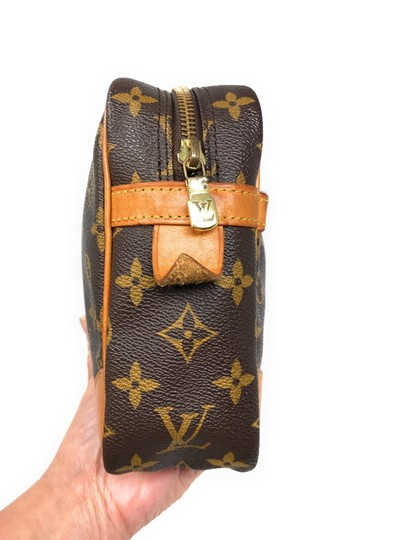 Louis Vuitton Monogram Canvas Clutches Handbags Purses Wristlet in Brown Image 6