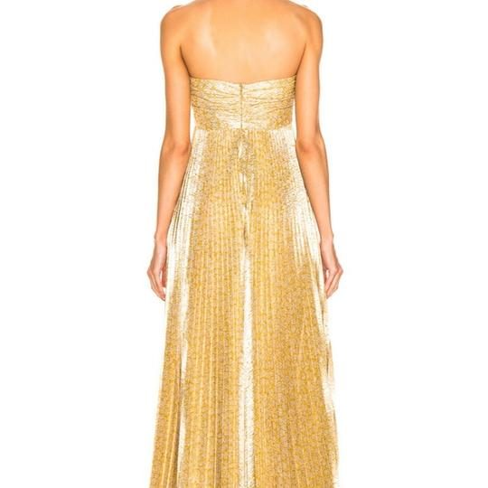 Alexis Gold Polyester In Lame Formal Bridesmaid/Mob Dress Size 12 (L) Image 1