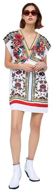 Item - Multicolor Tunic Mid-length Short Casual Dress Size 4 (S)