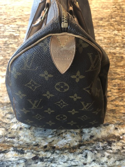 Louis Vuitton Monogram Speedy Leather Lv Tote in Brown Image 1