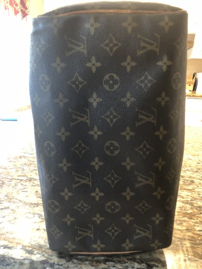 Louis Vuitton Monogram Speedy Leather Lv Tote in Brown Image 2