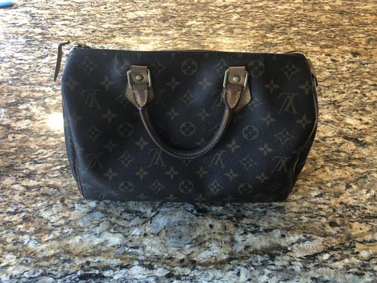 Louis Vuitton Monogram Speedy Leather Lv Tote in Brown Image 5