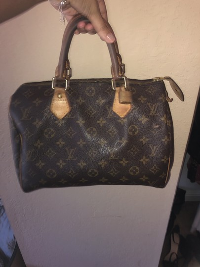 Louis Vuitton Monogram Speedy Leather Lv Tote in Brown Image 6