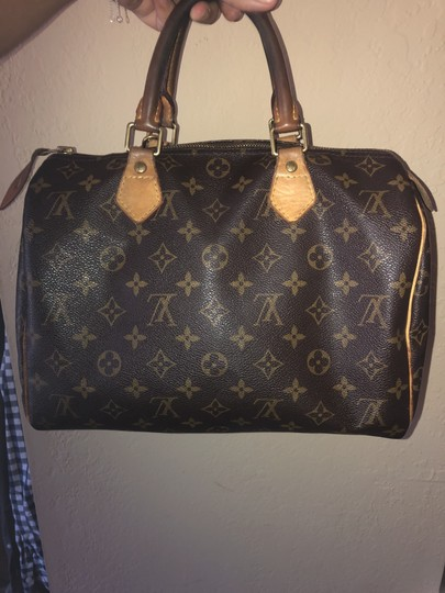 Louis Vuitton Monogram Speedy Leather Lv Tote in Brown Image 7