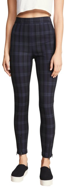 T by Alexander Wang Blue/Green Stretch Plaid Plaid Fitting Leggings Skinny Jeans Size 32 (8, M) T by Alexander Wang Blue/Green Stretch Plaid Plaid Fitting Leggings Skinny Jeans Size 32 (8, M) Image 1