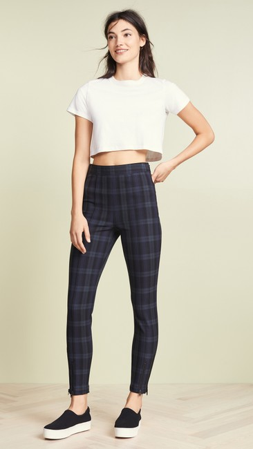 T by Alexander Wang Plaid Casual Sassy Skinny Jeans Image 1