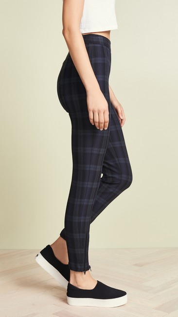 T by Alexander Wang Plaid Casual Sassy Skinny Jeans Image 3