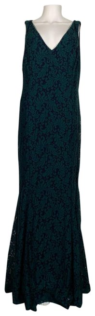 Preload https://img-static.tradesy.com/item/25523055/lauren-ralph-lauren-multicolor-gown-lace-fluted-green-navy-blue-new-long-formal-dress-size-16-xl-plu-0-1-650-650.jpg