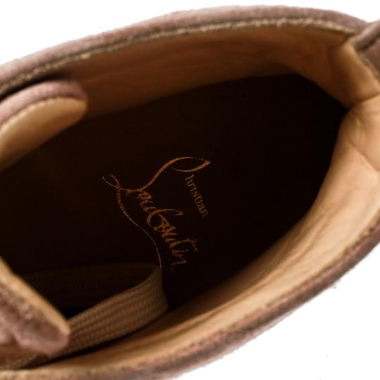 Christian Louboutin Suede Leather Rubber Beige Flats Image 4