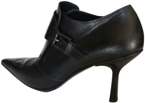 Gucci Buckle Leather Black Boots