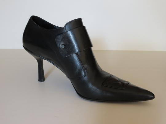 Gucci Buckle Leather Black Boots Image 1