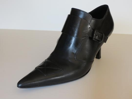 Gucci Buckle Leather Black Boots Image 2