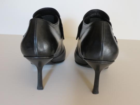 Gucci Buckle Leather Black Boots Image 3