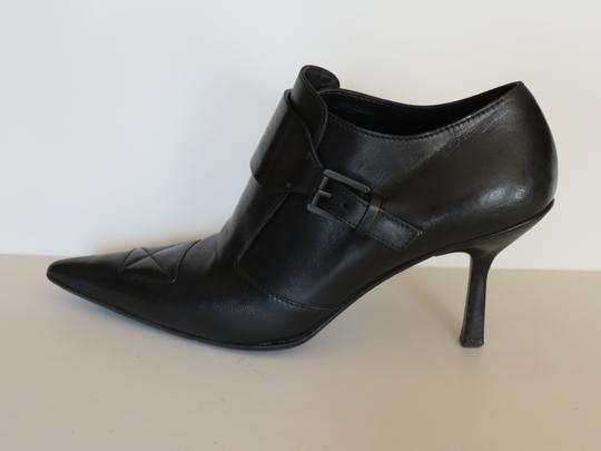 Gucci Buckle Leather Black Boots Image 4