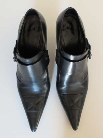 Gucci Buckle Leather Black Boots Image 5