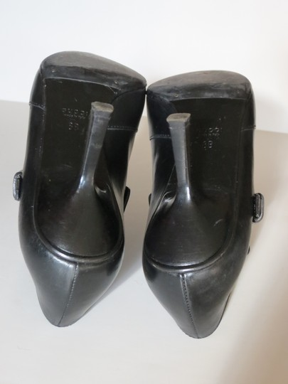 Gucci Buckle Leather Black Boots Image 6