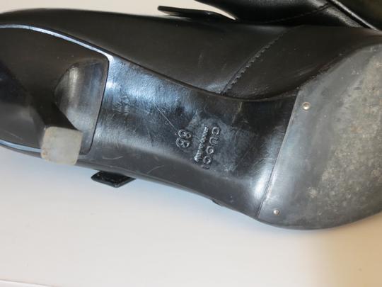 Gucci Buckle Leather Black Boots Image 8