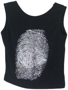Just Cavalli Fingerprint Trend Contemporary Spandex Stretchy Top black, white