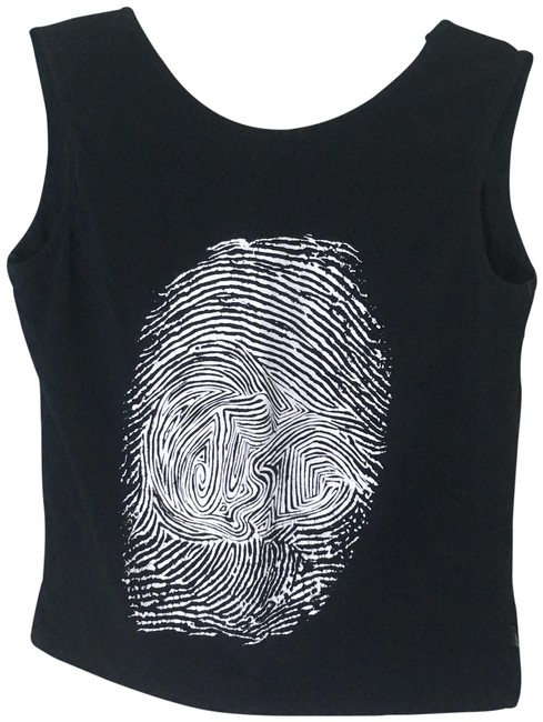 Just Cavalli Fingerprint Trend Contemporary Spandex Stretchy Top black, white Image 0