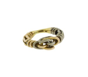 HA Gucci Icon thin band band ring in 18k yellow gold new in box size 6.5
