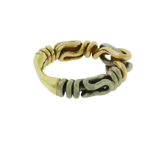 HA Gucci Icon thin band band ring in 18k yellow gold new in box size 6.5 Image 3