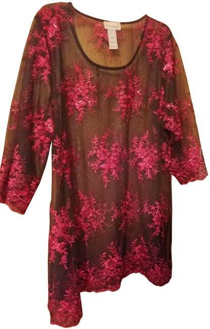 Catherines Black and Red Tunic Size 18 (XL, Plus 0x) Catherines Black and Red Tunic Size 18 (XL, Plus 0x) Image 1