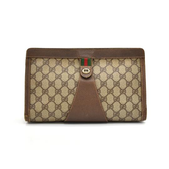 Preload https://img-static.tradesy.com/item/25523163/gucci-clutch-vintage-accessory-collection-gg-supreme-coated-canvas-brown-weekendtravel-bag-0-0-540-540.jpg