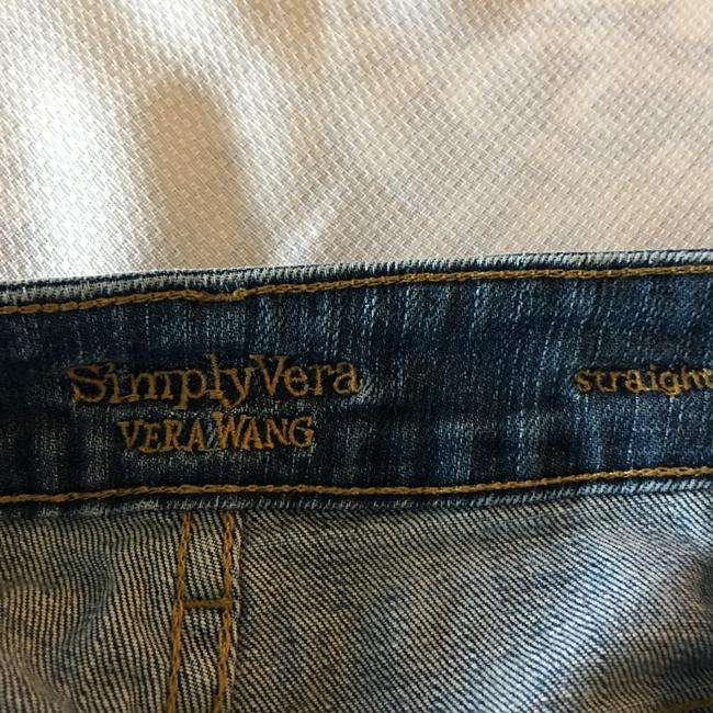 Simply Vera Vera Wang Straight Leg Jeans-Distressed Image 5