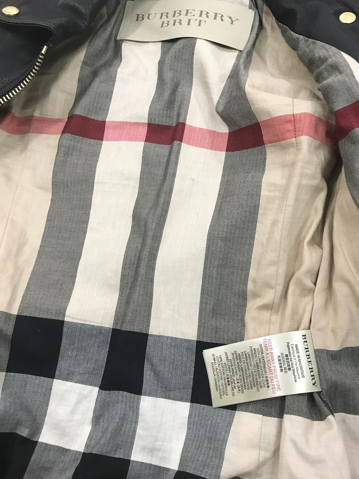Burberry Brit Black Quilted Moto Double Zip Jacket Size 4