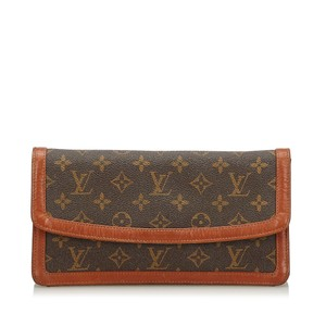 Louis Vuitton 9elvcl003 Vintage Brown Clutch