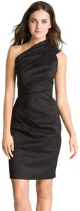 Eliza J One Shoulder Taffeta Lbd Dress
