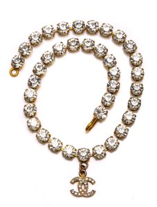 Chanel Chanel Accessory Rhinestones Year 97 Rare Necklace Seen Worn By Miley