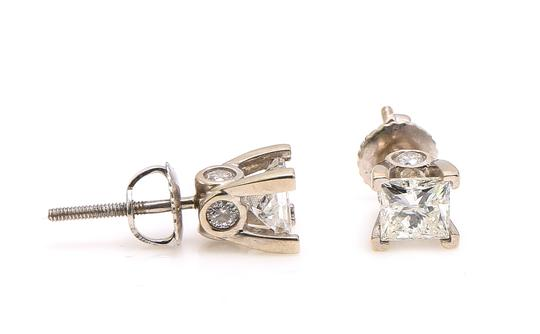 Preload https://img-static.tradesy.com/item/25523459/14k-white-gold-princess-cut-studs-earrings-0-0-540-540.jpg