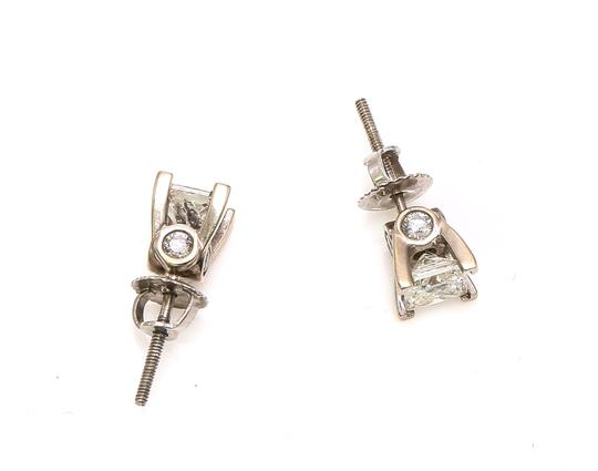 Diamond Earrings Princess Cut Diamond Studs Earrings Image 2