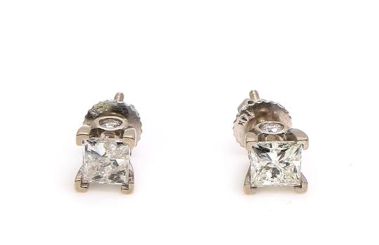 Diamond Earrings Princess Cut Diamond Studs Earrings Image 5
